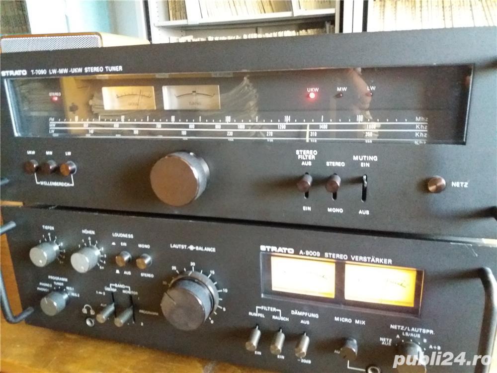 Amplificator  Strato 9009+tuner Strator 7090  Vu metre cu ace
