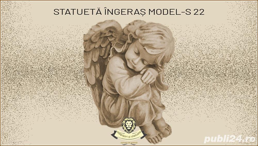 Statueta ingeras adormit din beton model S22.