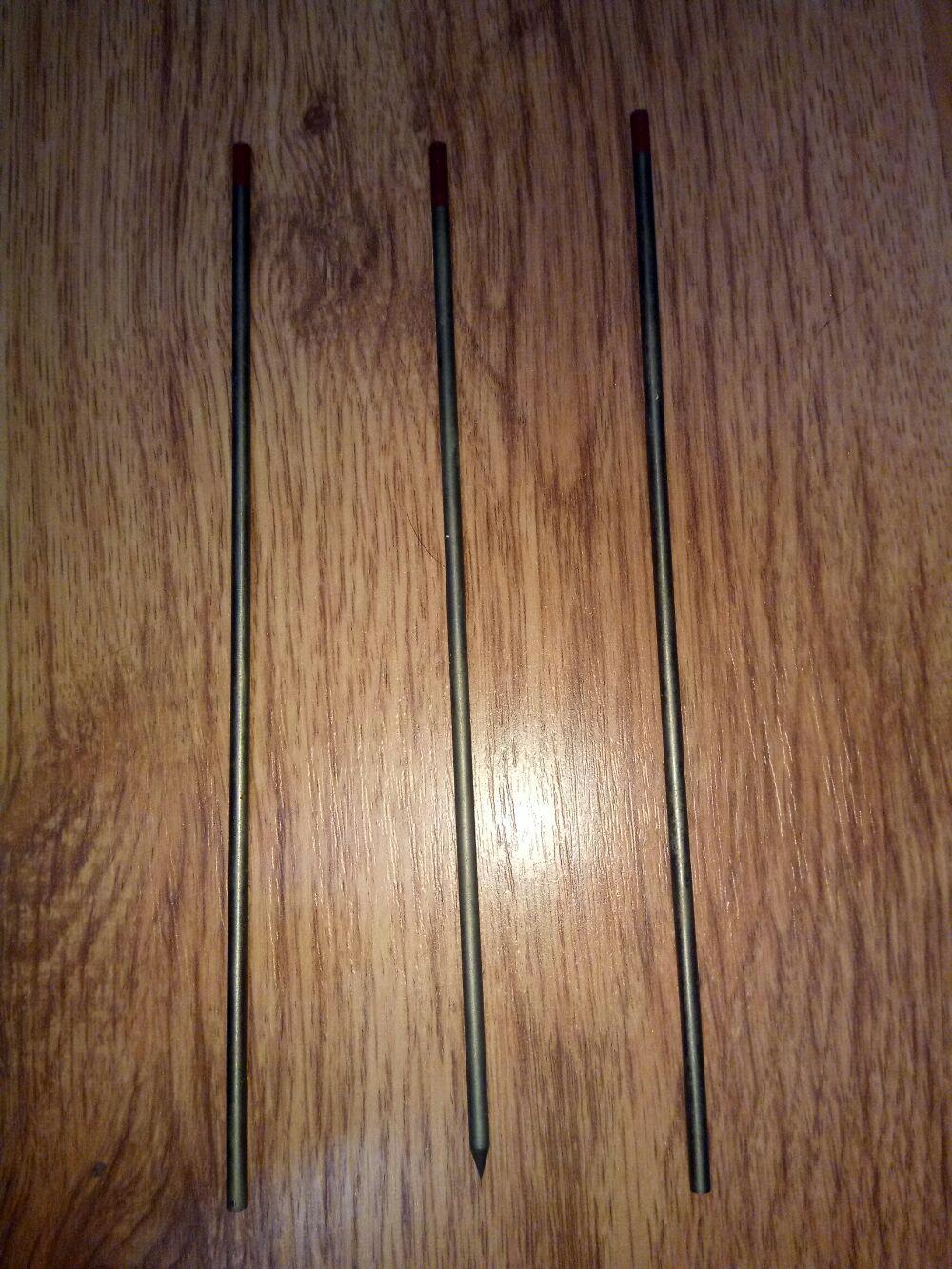 Electrozi wolfram 3.2mm rosu, thorium (sudura wig-tig)