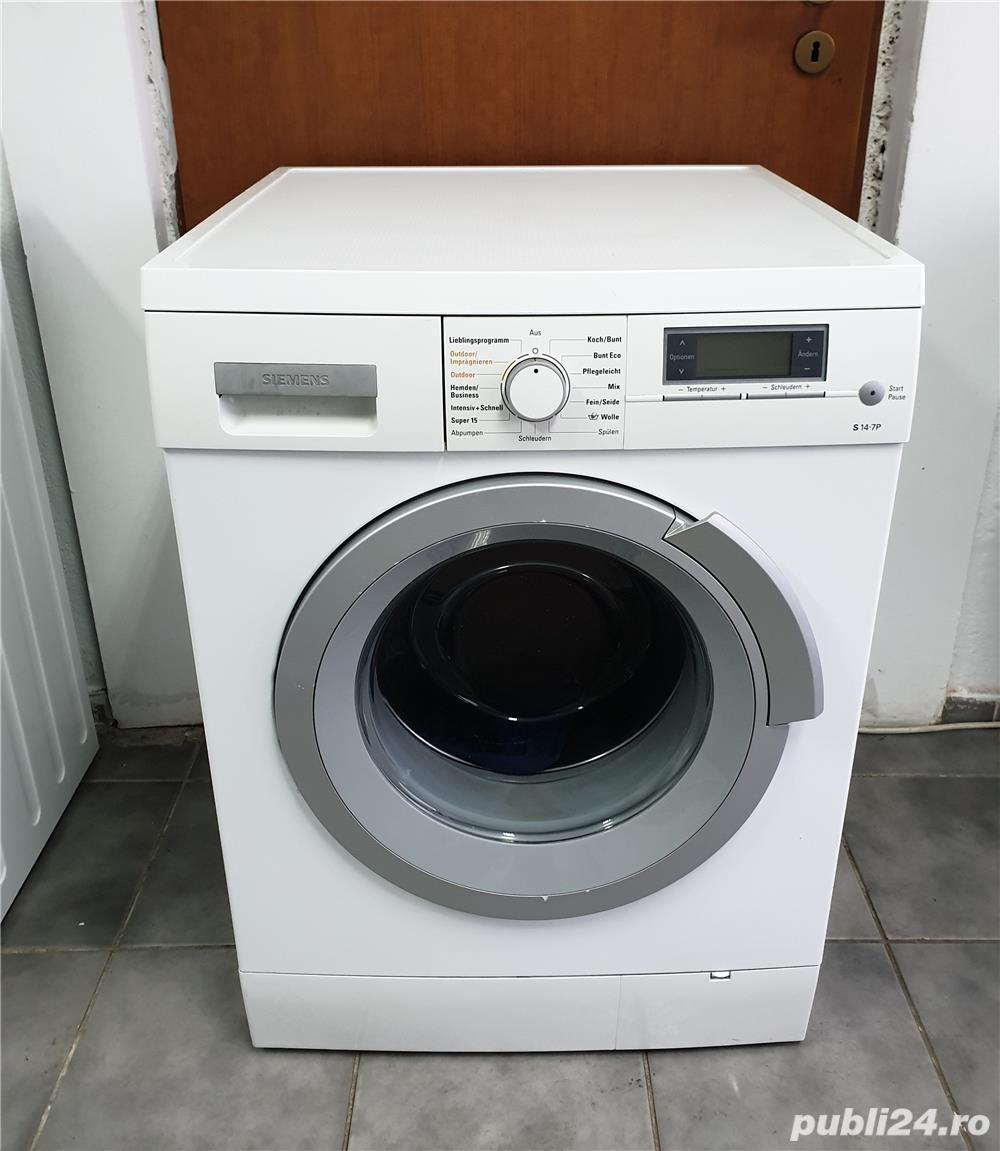 Reducere 200 lei - Masina de spălat rufe Siemens.  Capacitate cuva 8 kg.