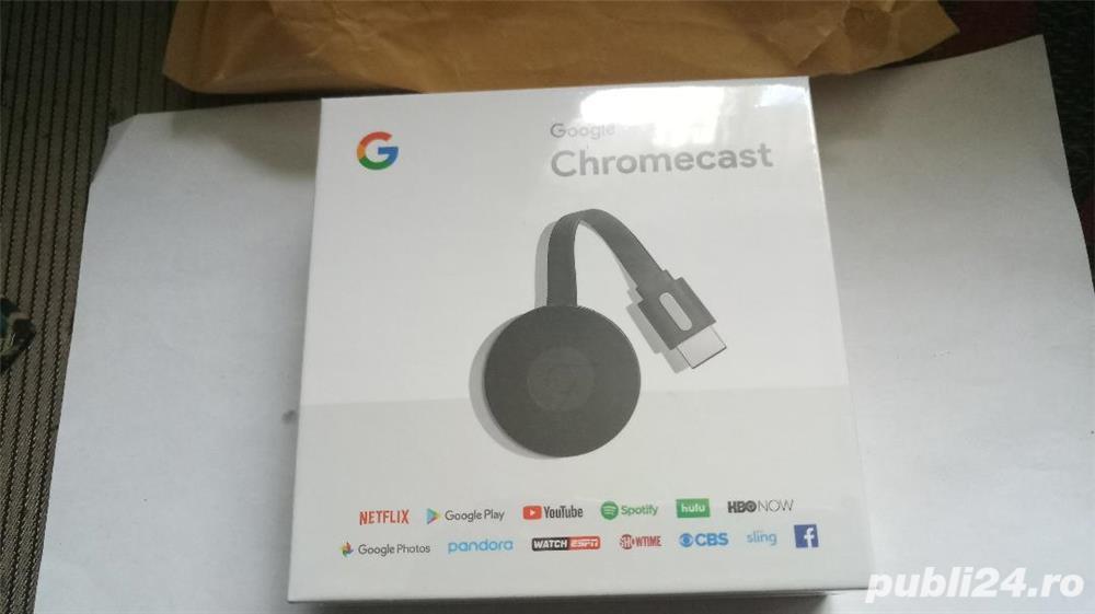 Google chromecast 2,media player,nou,sigilat in cutie,model 2018