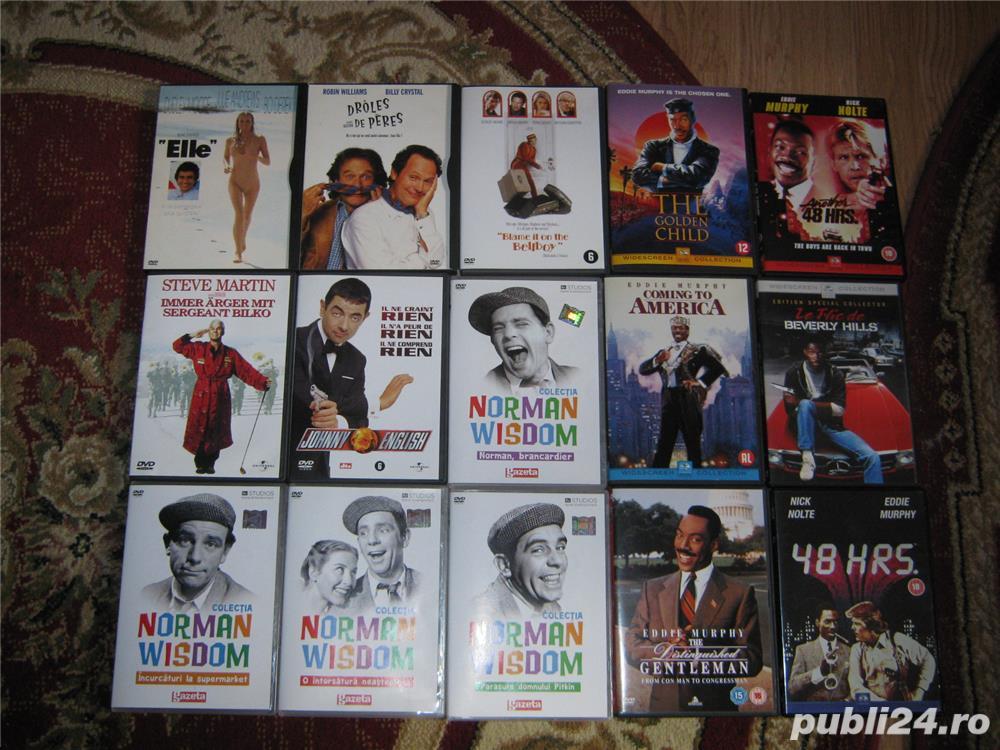 COMEDII DVD FILME ORIGINALE,EDDIE MURPHY,BILLY CRISTAL,ROBBIN WILLIAMS,MR BEAN,NORMAN WISDOM,D.MOORE