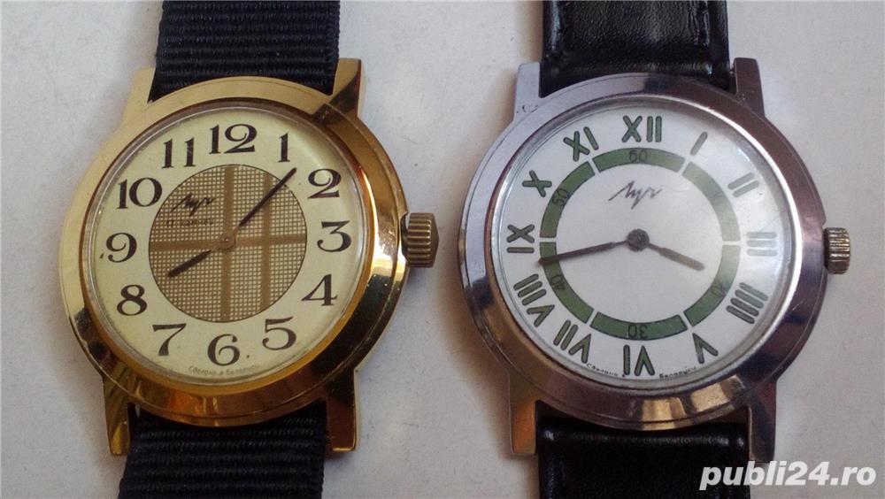 2 ceasuri mecanice LUCH, stare excelentă, funcţionale
