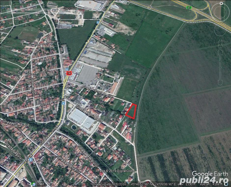 Vand teren intravilan de constructii 325 mp. situat in Sibiu str. Oborul de vite