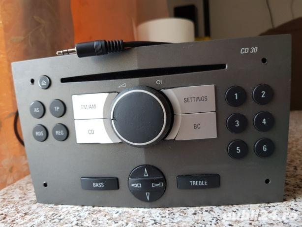 Radio modificat ptr.aux in/jack stereo opel corsa,astra,vectra,zafira