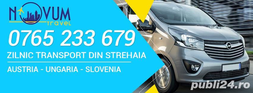 Transport persoane din Strehaia oriunde in Austria, Ungaria, Slovenia la adresa