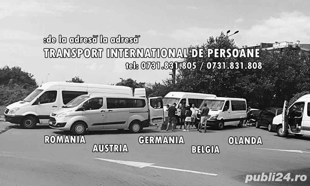 Transport persoane ZiLNiC, de la adresa la adresa RO> Austria-Germania-Belgia-Olanda