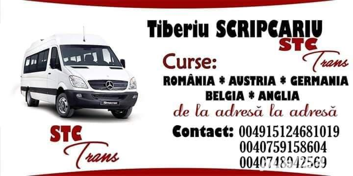 STC TRANS ...CURSE     SĂPTĂMÂNALE     ROMANIA CHEHIA GERMANIA BELGIA AUSTRIA     ..plecare din boto