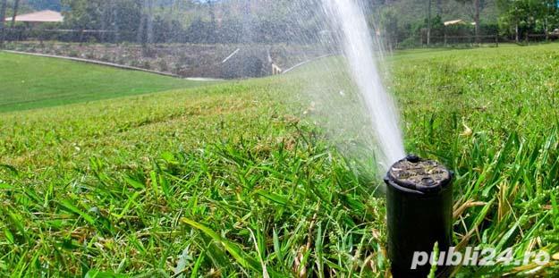 Sisteme de irigații automate, sistem hidrofor, pompe de apă, rulouri gazon