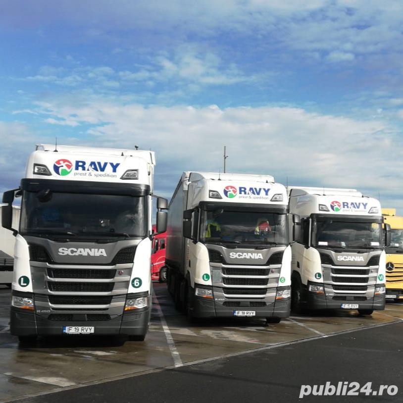 Angajam conducatori auto cu experienta pe Benelux sau curse DE-A-CH!