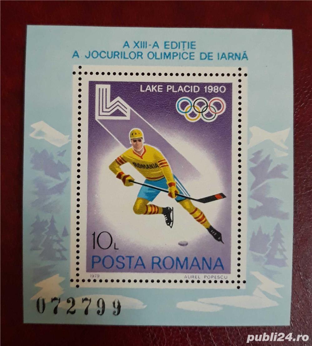 Timbre 1979 Olimpiada de Iarnă - Lake Placid Colita MNH