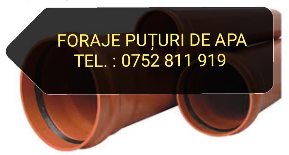 FORAJE PUTURI DE APA: 0752 811 919