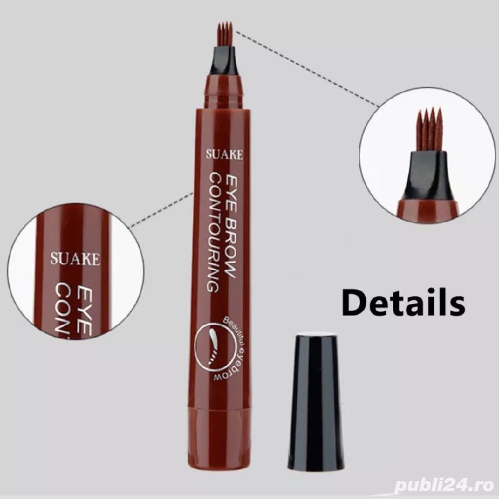 Creion Waterproof pentru sprâncene cu efect Microblading