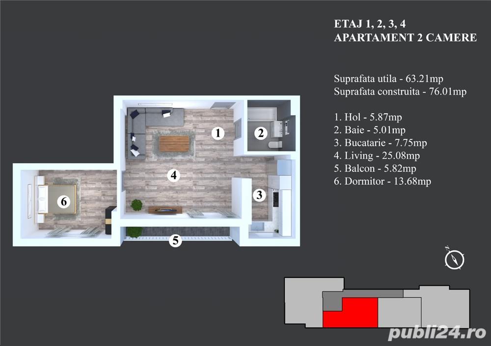 2 Camere Militari - Bloc Nou - Zona Blv. Timisoara - Moinesti