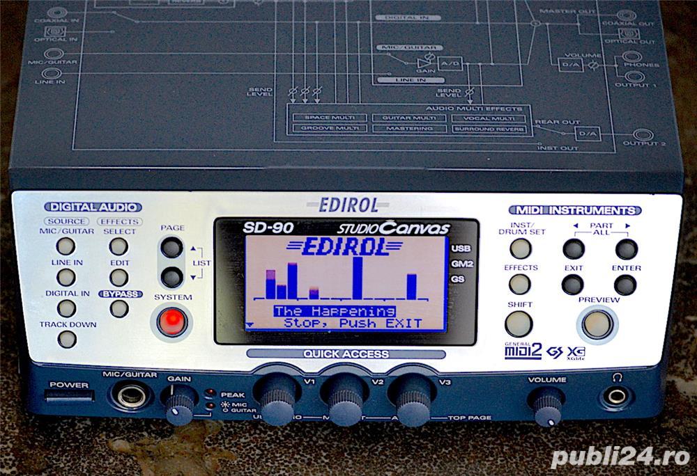 Roland Edirol SD 90 Studio Sound Canvas Sintetizator Synthesizer Modul Sunet GS GM2 XG SRX JD XV