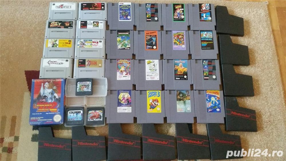 30  jocuri SNES , NES , N64,SEGA GEAR , vintage,COLECTIE