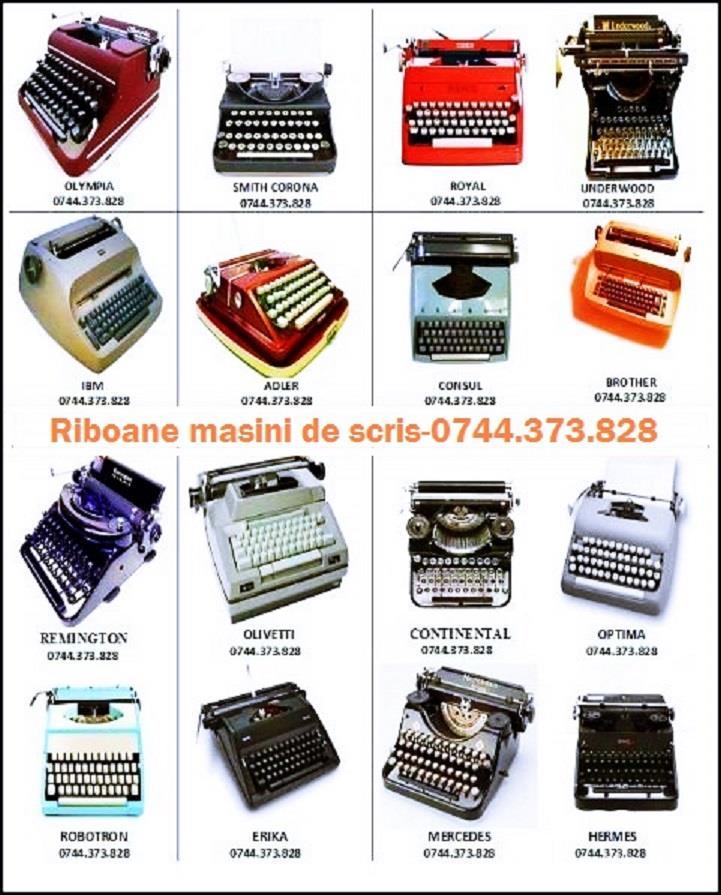 Banda masina de scris Robotron,Daro Erika,Olympia,Maritsa,Continental,Brother,Olivetti