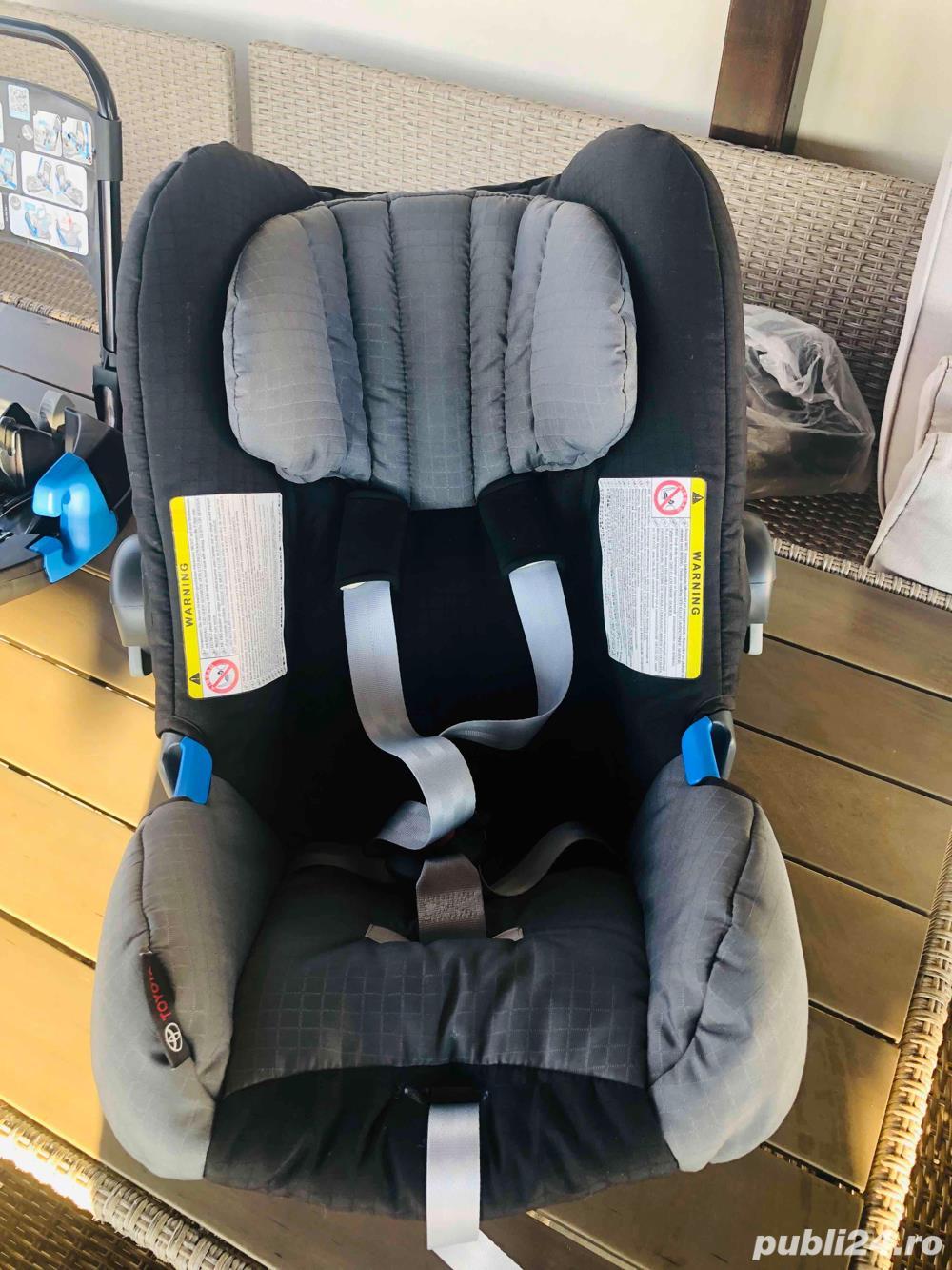 Britax Römer Baby Safe Plus + baza cu prindere in centura