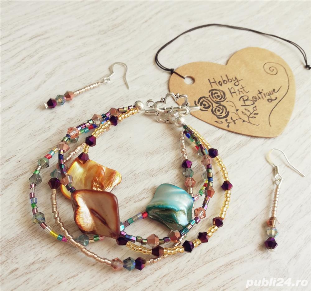 vânzare magazin de vânzare proaspăt confortabil cumpara online Set de bijuterii handmade cu sidef Otopeni - Moda si accesorii ...