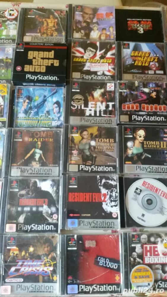 pachet de 110 jocuri ps1,playstation 1,originale,spate negru