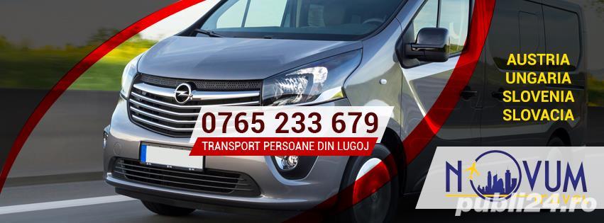 Transport persoane din Lugoj oriunde in Austria, Ungaria, Slovenia Slovacia la domiciliu