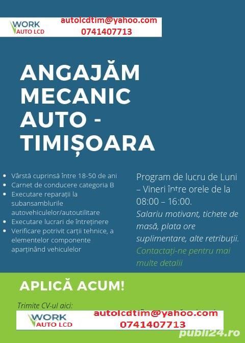 Angajam mecanic auto in Timisoara