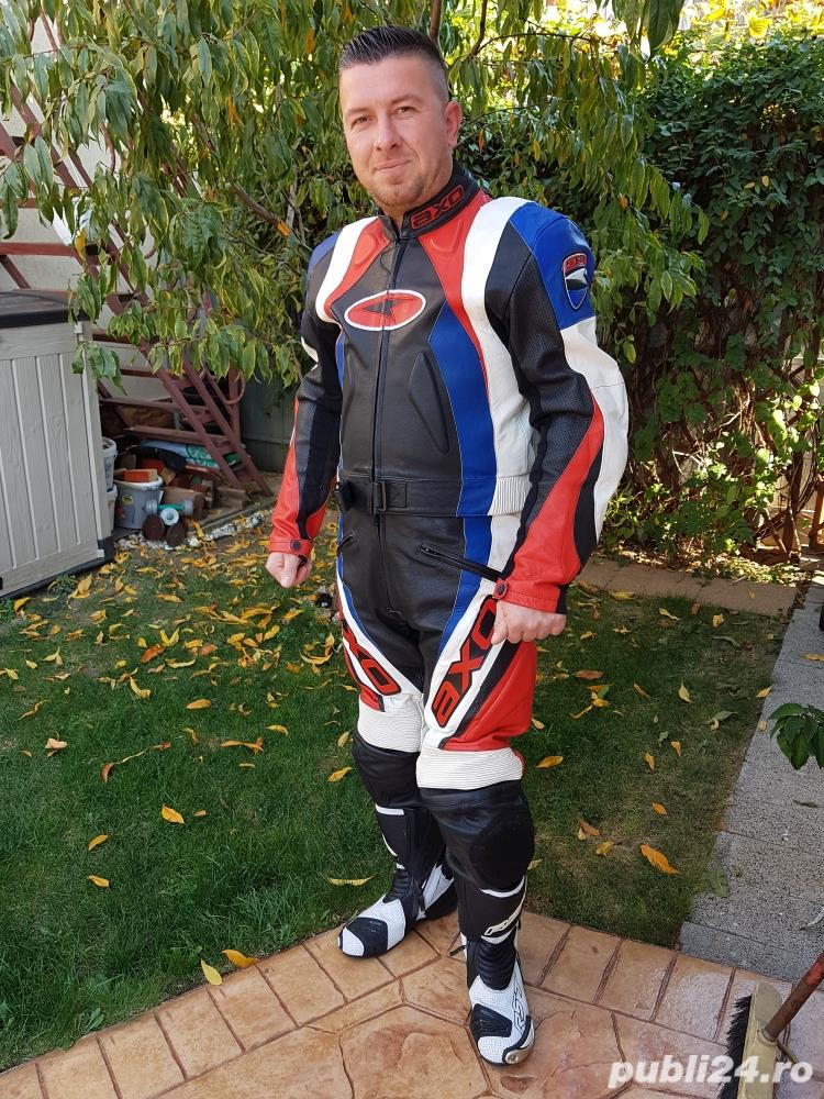 Costum moto AXO Racing (52) perfect! Geaca+ pantaloni