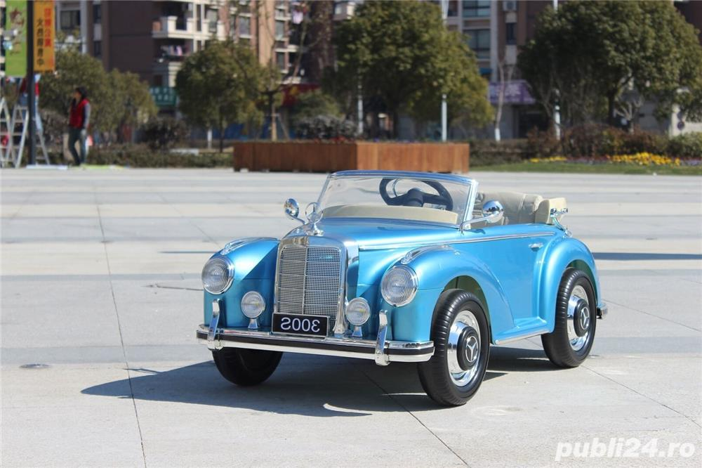 Kinderauto Mercedes 300S Oldtimer Cu ROTI MOI #Albastru
