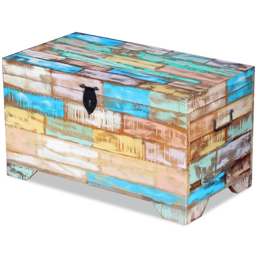 ufăr de depozitare din lemn reciclat de esență tare vidaXL 243277