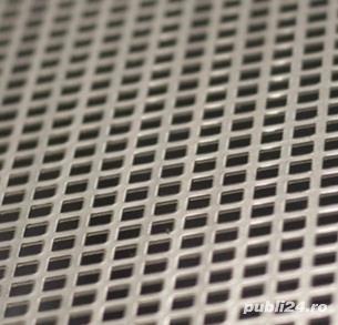 Tabla perforata otel 1.5x1000x2000mm C10U15 Q10T15 gaurita stantata sita perforatie patrata 10mm