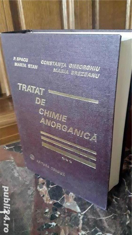 Carte tehnica: Tratat de chimie anorganica, de Spacu si Gheorghiu