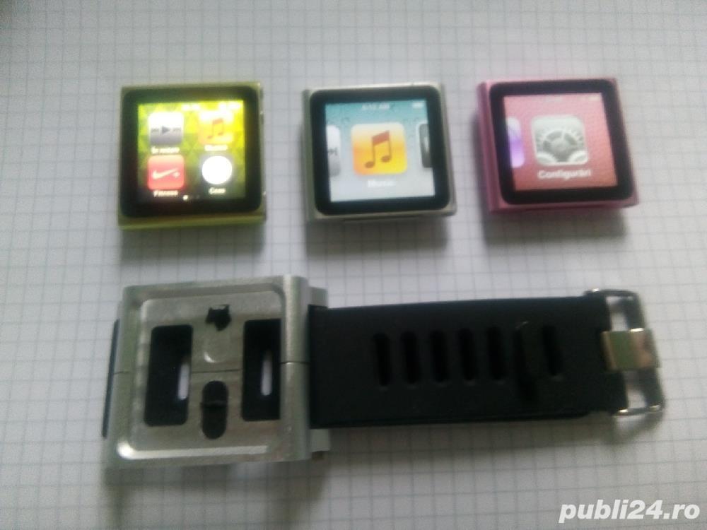 Vând 3x iPod Apple Nano 6 verde, gri și roz + BONUS