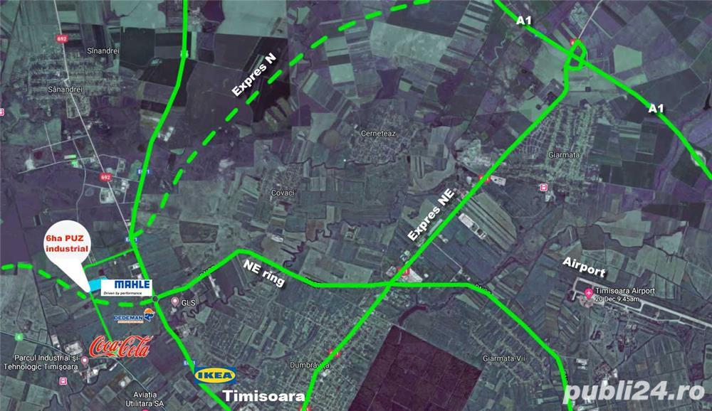 Vand 5440 mp intravilan pentru hala Calea Aradului Timisoara