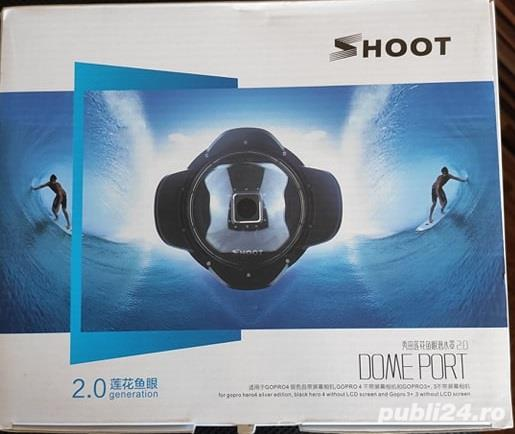 Shoot DomePort 2.0 GOPRO 4, GOPRO3+, hero4 silver