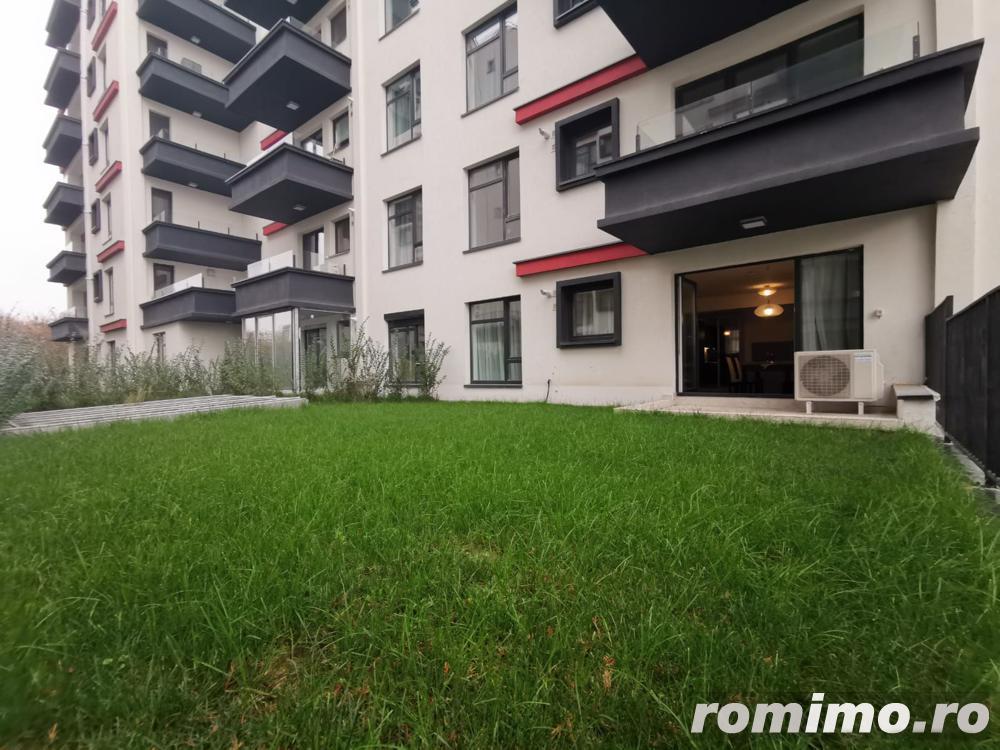 Laguna Residence 2 camere etaj 1/9 mobilat lux gradina proprie 66 mp