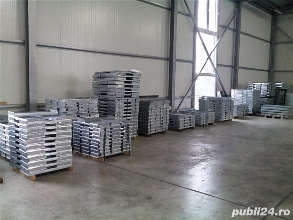 Gratare metalice zincate,trepte metalice zincate din stoc Meiser Oradea