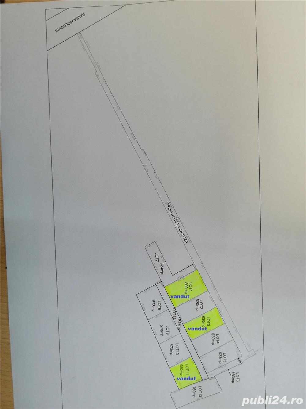 Bacau zona residenziale  Ghereiesti Teren de vanzare