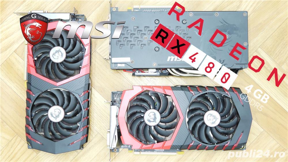 Placa video MSI AMD Radeon RX 480 Gaming X 4G, 4GB GDDR5, 256-bit