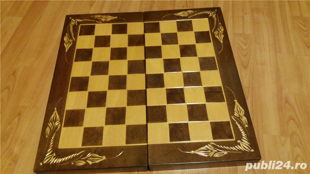 Cutie Joc 50x50x4 cm pentru sah-table-dame cu set piese incluse