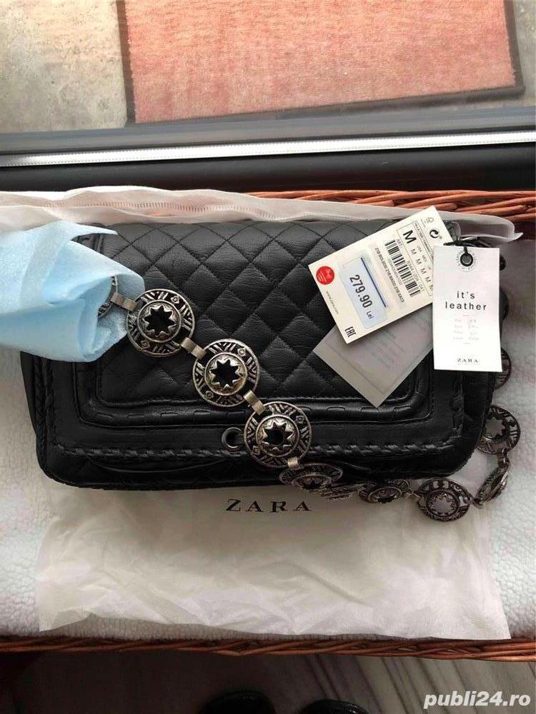 Geanta Zara/Chanel piele noua!