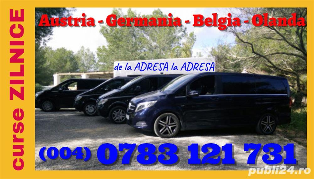 transport persoane din Sector 5 Bucuresti Austria Germania Belgia Olanda plecari zilnice la adresa