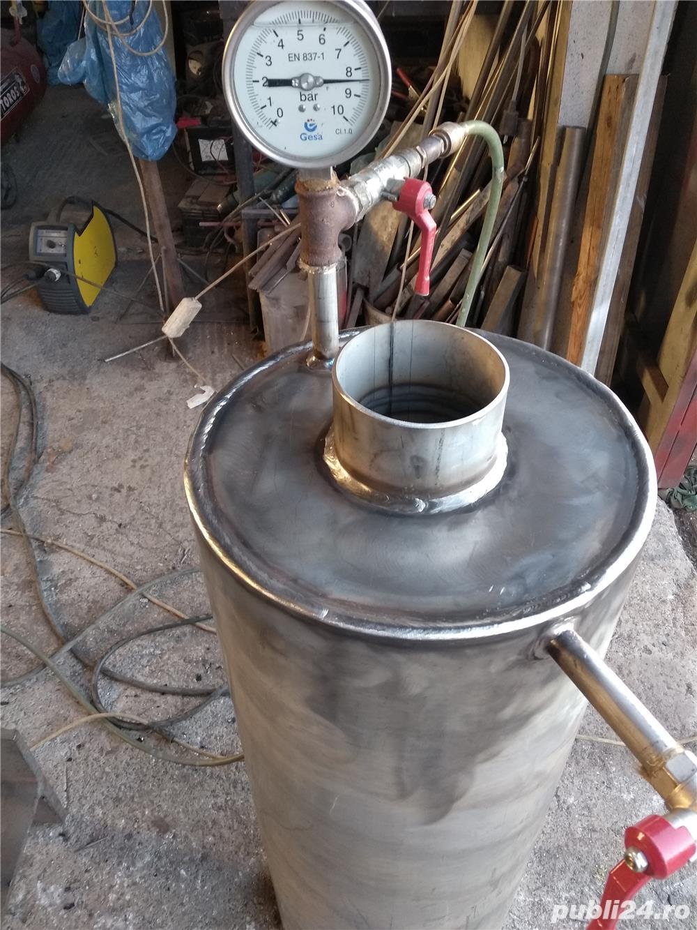 Boilere de inox pe lemne pe comanda