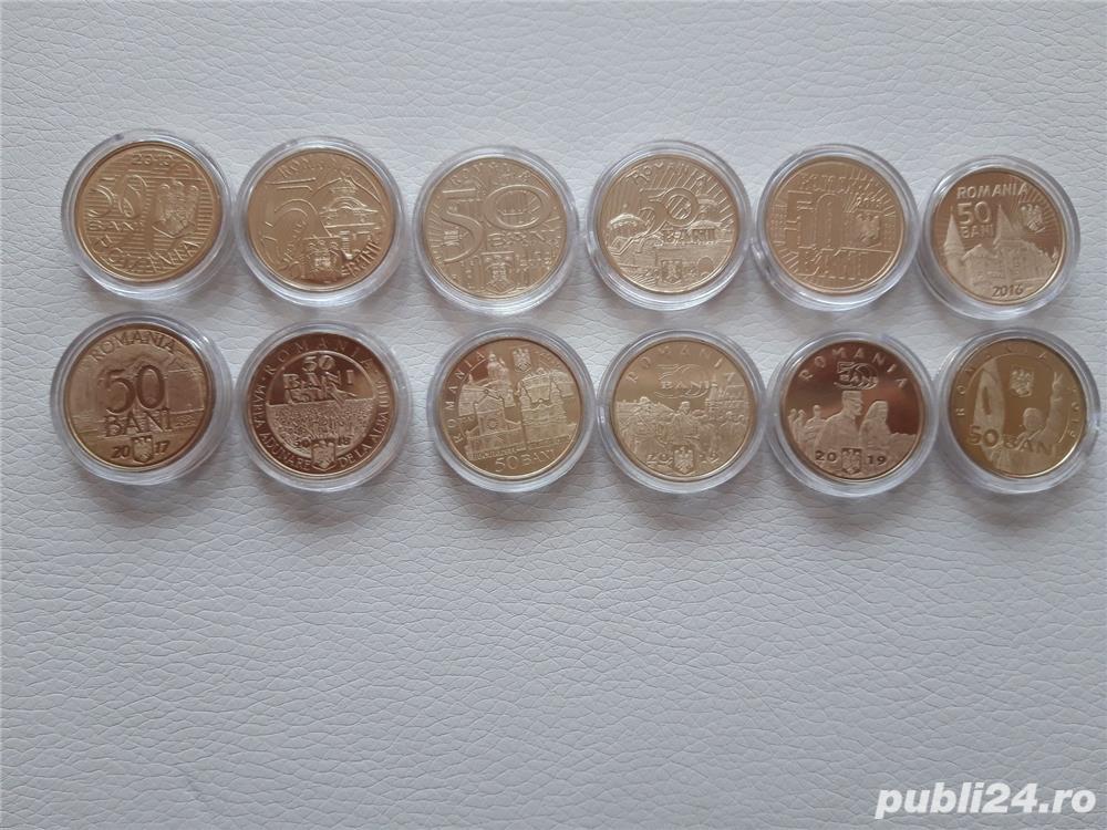 Colectie monede 50 bani aniversari (2010-2019)