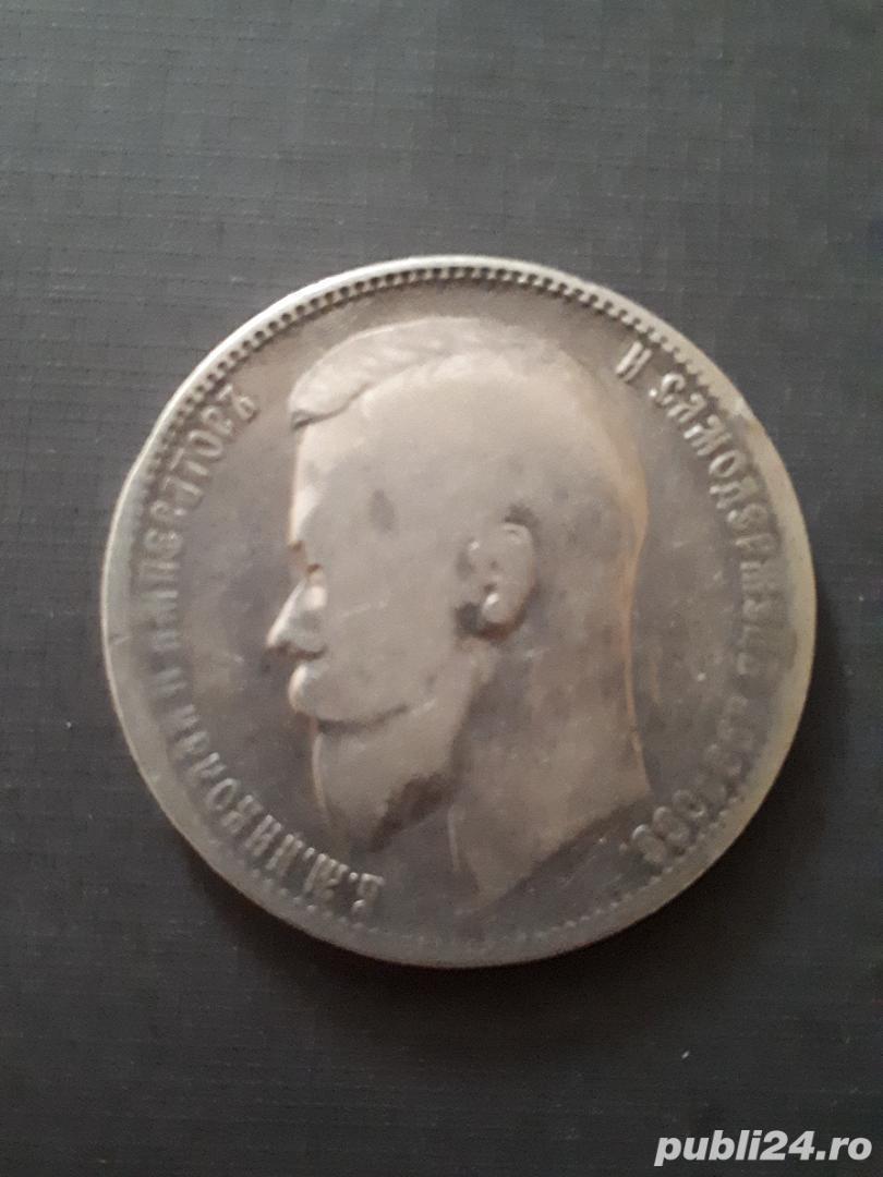 Moneda argint 1 rubla tarista Rusia 1899