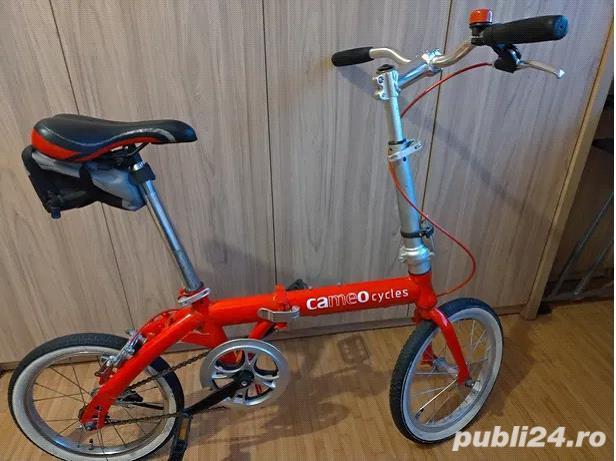 vand bicicleta pliabila rosie roti 16 inch