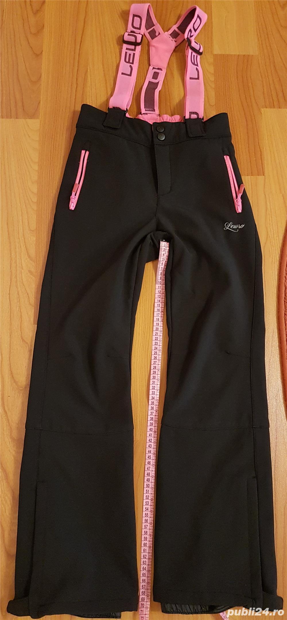 Pantaloni ski copii LEWRO NUKA, marime 152-158, 8000 mm