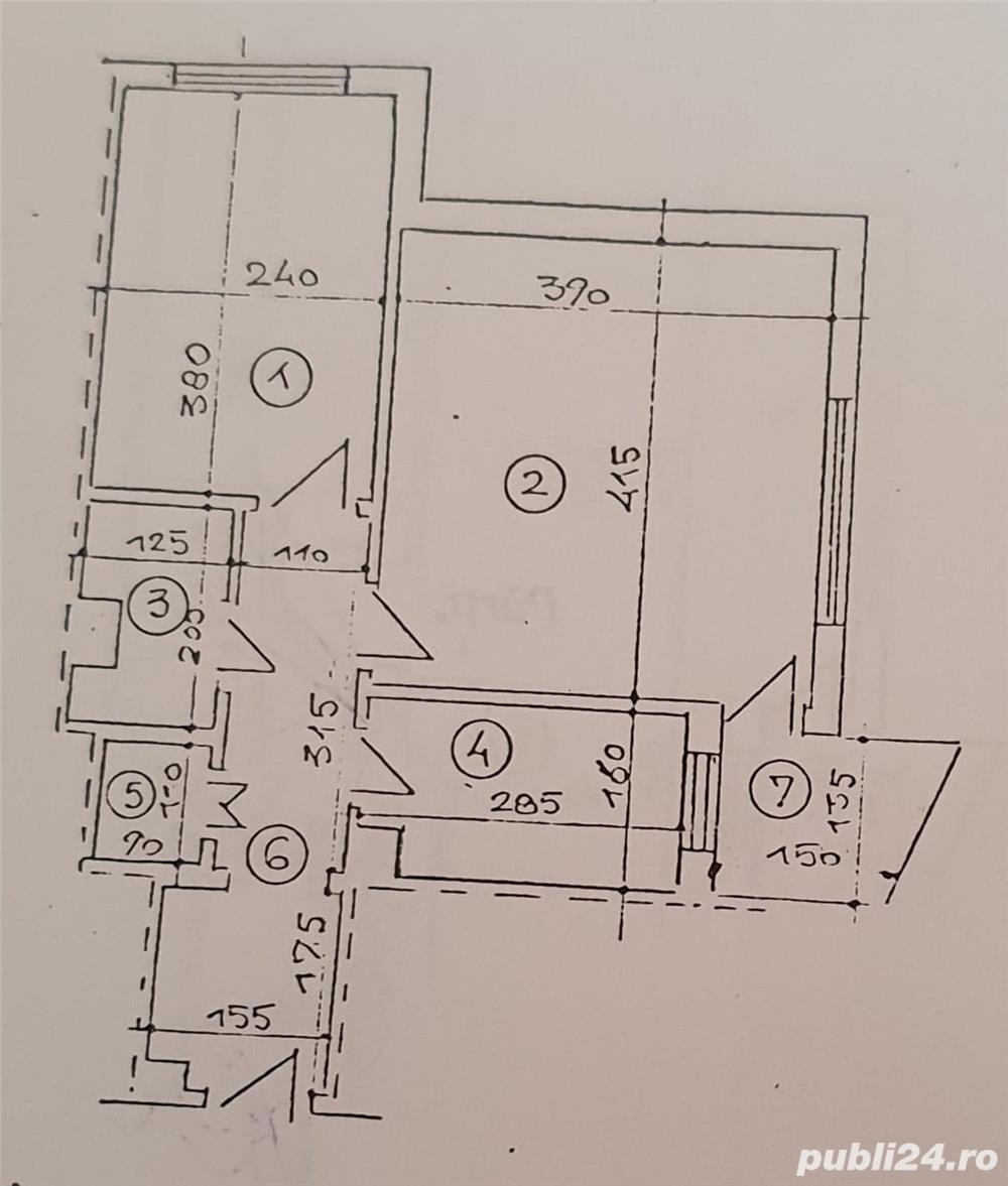 Apartament central 2 camere decomandat