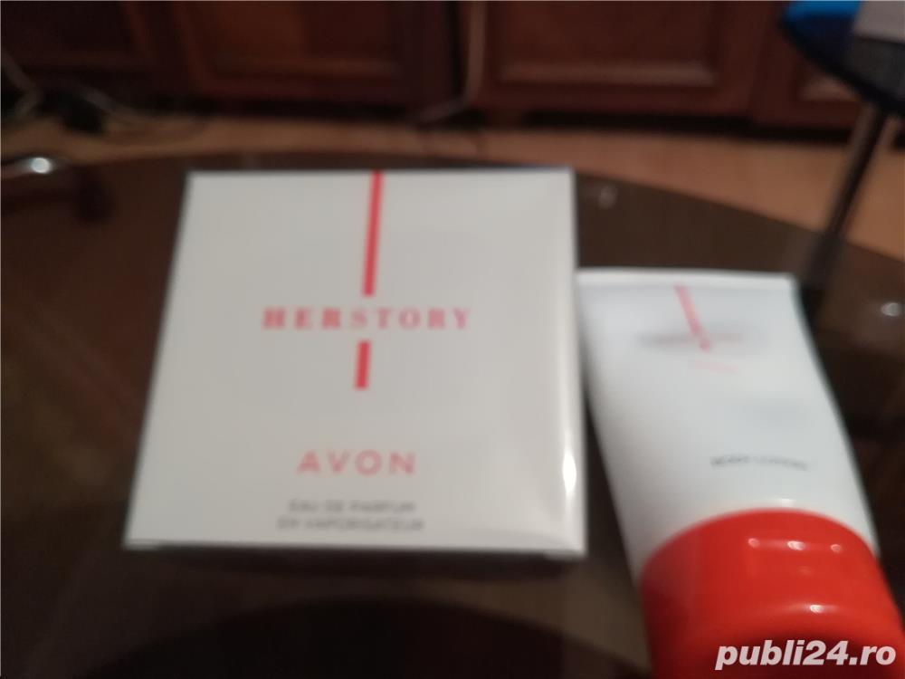 Parfum HERSTORY by Avon + crema de corp