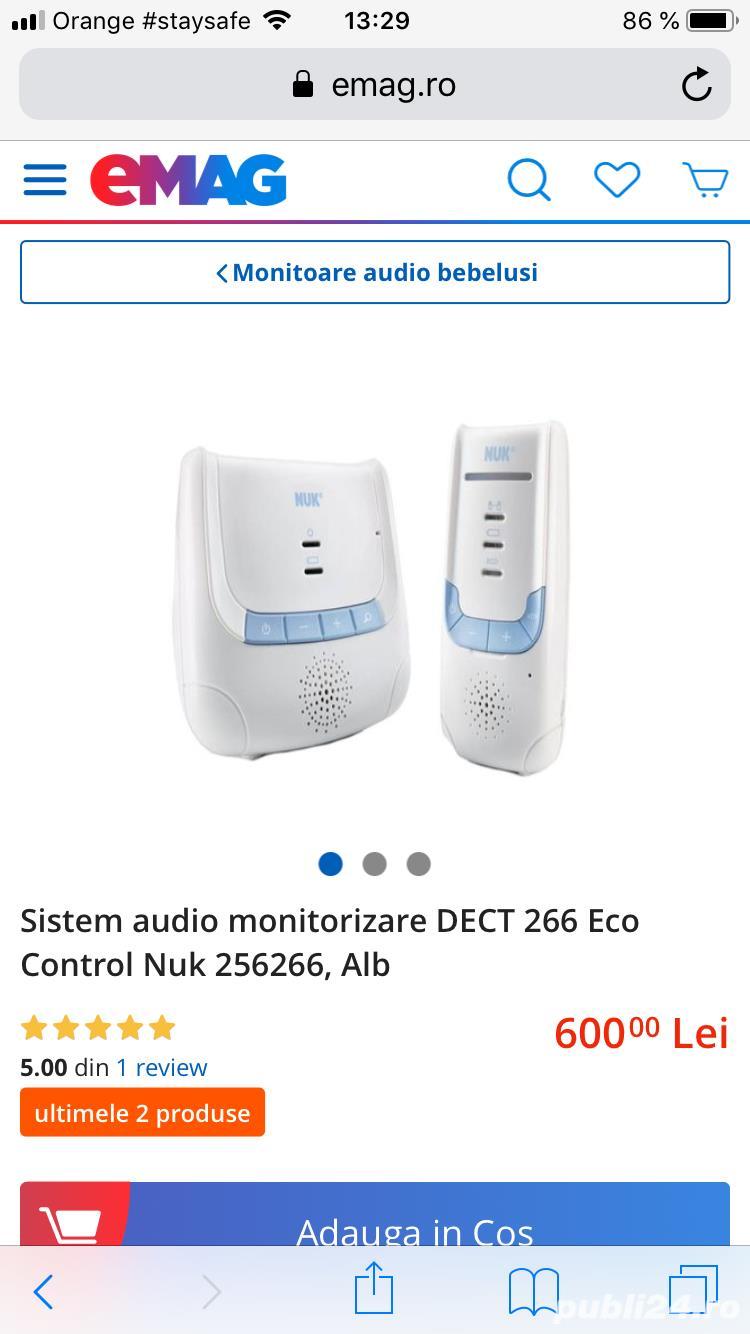 Monitor audio pentru bebelusi Eco Control DECT 266