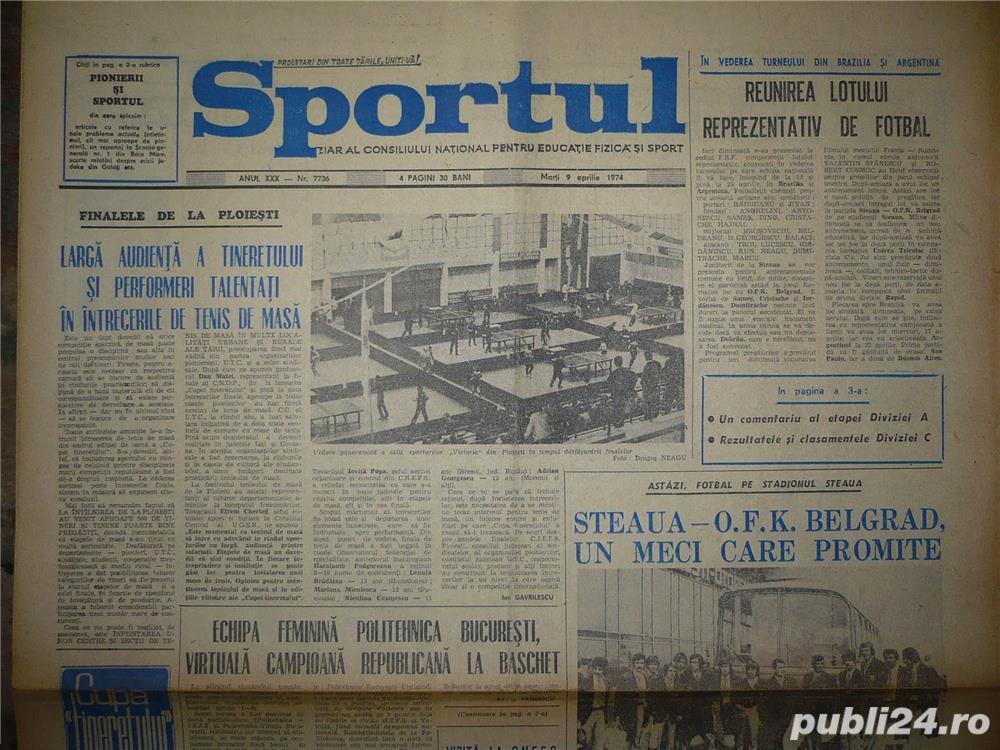 Ziare sportive romanesti 1920-2000
